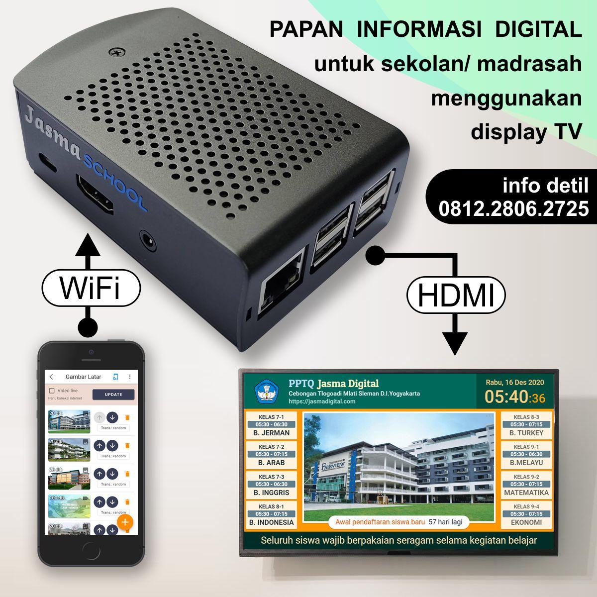 Papan informasi digital sekolah